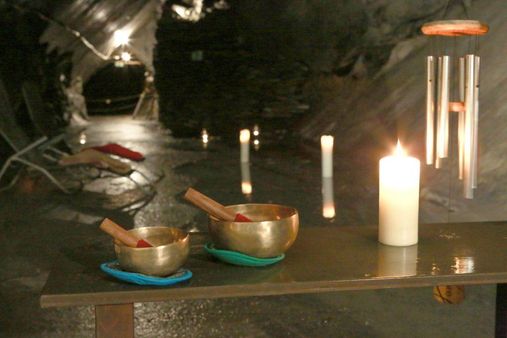 Meditation im Bergwerk