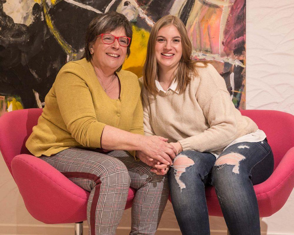 Margit Heuser und Marla Heuser, die Gastgeberinnen